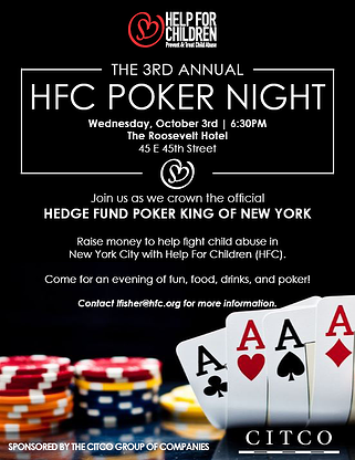 3rd Annual Hedge Funds Care Poker Tournament
