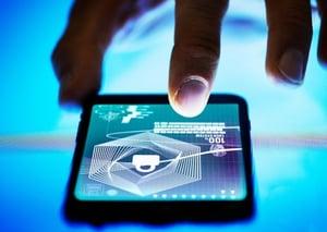 digital-business-finger-mobile-phone-security