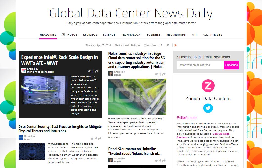 Data Center News, Data Center Design and Builduild